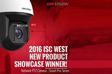 دوربین اسپیددام ۴K هایک ویژن بعنوان بهترین محصول نمایشگاه ISC West 2016 انتخاب شد